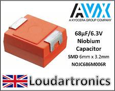 AVX TAAB 685K016 6.8uF 35V 10/% Condensador de tántalio de estado sólido herméticamente axial