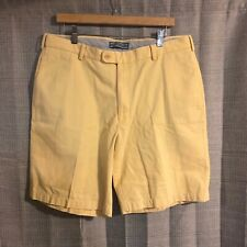 Peter Millar Solid Yellow Pima Cotton Shorts Size 36