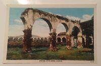 Arches Serra Church MISSION SAN JUAN CAPISTRANO CA vintage white-border postcard
