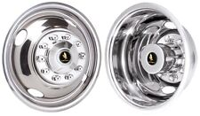 "FORD F450 16"" 10 LUG BOLT ON STAINLESS STEEL HUBCAP/SIMULATORS SET 1988-1998"