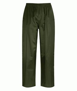 Black Knight Waterproof Rain Trousers Olive Green Sizes S,M,L,XL,XXL