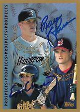 Russ Jackson & Eric Chavez 1998 Topps Autographed Baseball Card