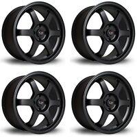 "4 x Rota Grid Matt Black Alloy Wheels 17x7.5""|ET45|4x100 PCD|67.1mm Centre Bore"