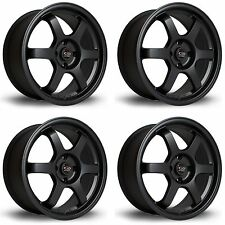 4 x Rota Grid Matt Black Alloy Wheels 17x7.5"