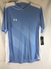 Under Armour Mens Fixture Soccer Short Sleeve Shirt Blue / White XL