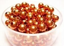 Copper Beads / 5 MM  /  Pkg. of 50 / Genuine Copper Round Smooth Seamed Beads