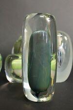 Isabelle Monod RARE volume en verre soufflé sculpture french studio glass 1980