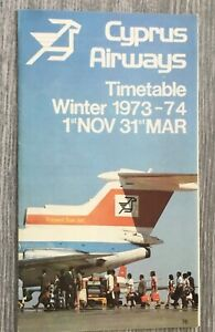 Cyprus Airways timetable 1973-74