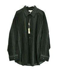 NEW Pronto Uomo Men's 3X Long Sleeve Button Up Dress Shirt Stripe Black Red