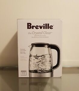 Breville The Crystal Clear 1800W Glass Tea Kettle NEW