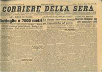 CORRIERE DELLA SERA 12 MAGGIO 1942  GIORNALI DI GUERRA