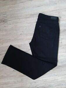 LEVIS Original Damen Jeans schwarz Stretch Größe 31 Straight Rise Denim Curve 40