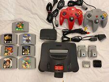 Console Nintendo 64 FRA RGB méthode CMS officielle + 7 jeux + accessoires