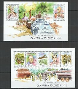 ST1175 2014 GUINEA-BISSAU WAR CAMPAIGN IN POLAND KB+BL MNH STAMPS