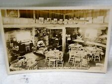 Interior of Trout Valley Lodge Cabin City Montana RPPC Real Photo Postcard