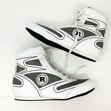 Ringside Diablo Shoe sz 8 Lo-Top Low Top Boxing Shoes Boots - White Gray