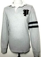 Mens Ralph Lauren Polo Sweatshirt 'Polo 67' Grey White Navy Size L *Rare* 8-848