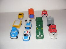 Geotrax Push Vehicle Lot: Police Car, Big Rig, Freightway Transport, Plow
