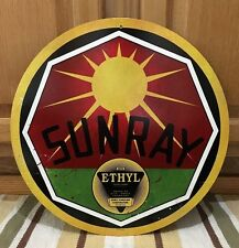SUNRAY Metal Garage Wall Decor Vintage Style Ethyl Gas Pump Oil