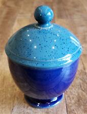 Denby HARLEQUIN Blue Green -- Sugar Bowl w/Lid