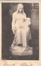 SENS cathédrale la vierge et l'enfant Jésus dans la fuite en Egypte timbrée 1901