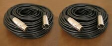 2 Pack 50FT XLR 3Pin Male Female Extension Mic Microphone Shielded Audio Cable
