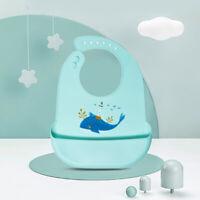Baby Bibs Waterproof Silicone Feeding Saliva Towel Newborn Cute Apron Adjustable