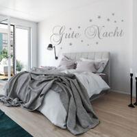 Wandtattoo AA313 Schlafzimmer Spruch  GUTE NACHT Sterne Wandaufkleber
