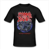 Morbid Angel Death Metal Band T Shirt Slim Fit Mens Black-White Size S-4XL