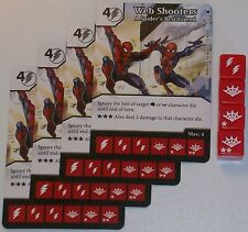 4X WEB SHOOTERS: A SPIDER'S BEST FRIEND 72 The Amazing Spider-Man Dice Masters