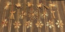 Vtg Lot of 17 Atomic Angels Wheat Weaving Straw Craft Wreath Decor Ornaments