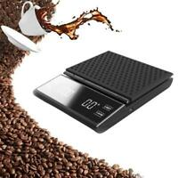 Portable Electronic Digital Coffee Scale With Timer High Precision LED Dis T1Y5