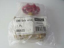 New Masterflow brass 22mm gate valve