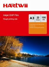 More details for  20sheets a3 inkjet ohp filmoverhead projector clear film 420x297mm hartwii