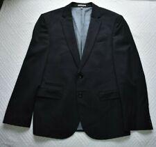 Express Men's 40S Suit Jacket Blazer Photographer Fitted Wool Blend Black
