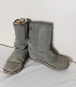 EMU Darlington Suede Sheepskin Grey Winter Boots UK 7