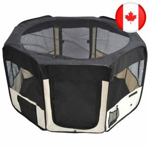 PawHut 49.2-inch Soft Pet Playpen Folding Tent Kennel Puppy Cat Dog Exercise Cra