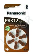 60 Stück Panasonic Hearing Aid batteries Air Zinc Typ PR 312