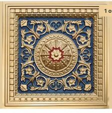 # 215 - Gold / Blue / Red 2'x2' PVC Decorative Ceiling Tile Grid