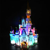 ONLY LED Lighting Kit For LEGO 71040 For Disney Castle Updated With Spotlight