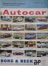 Autocar magazine 21/2/1964 featuring DAF Daffodil road test, Renault R8
