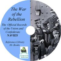 Civil War Records Union and Confederate NAVIES - War of the Rebellion   DVD CD