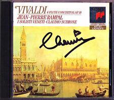 Claudio SCIMONE Signiert VIVALDI 6 Flute Concerto Op.10 Jean-Pierre RAMPAL CD