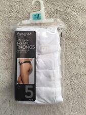 NWTG M/&S Sizes 14-22  5 pack Ladies Cotton Modal NO VPL THONGS  Knickers