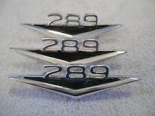 3, 289 Ford Mustang Fairlane Fender Badges, C3OB-16C144A