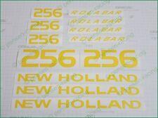 NEW HOLLAND 256 ROLA BAR Hay Rake Set Die Cut Premium Vinyl Decals Stickers