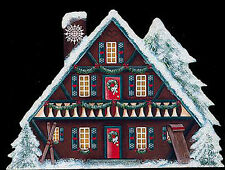 Brandywine Santa's Village: SNOWFLAKE LODGE Wooden Shelf Sitter CHRISTMAS