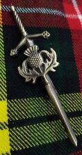 """ST Thistle Heritage Kilt Pin Antique Finish 4""""/Scottish Kilt Pins Sword Celtic"""