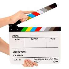 "Acrylic Clapboard Dry Erase Director Film Movie Clapper Board Slate 11.6x9.5"""