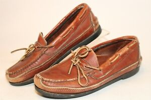 Gokey By Orvis Mens Size 9 Leather Slip On Loafers USA Made Boat Shoes Moccasins